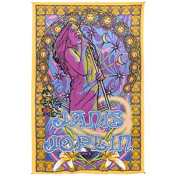 Handmade 100% Cotton Janis Joplin Hippie Bohemian Tapestry Tablecloth Throw Beach Sheet Dorm Decor 60x90