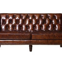 Osborne Sofa in Glazed Vintage Brown by Burke Decor