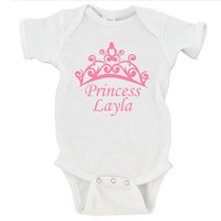 Princess Baby (Custom Name) Gerber Onesuit ®