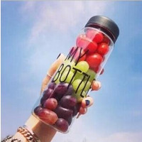 HOT my bottle 500 ml High Quality Plastic garrafa Sport Water Bottle Lemon Juice readily Cup Space Cup my botle