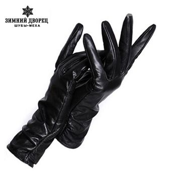 Leather Gloves Multiple Color Genuine Leather Winter Gloves Women Leather Gloves Winter Gloves Women