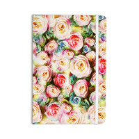 "Dawid Roc ""Pastel Rose Romantic Gifts"" Green Photography Everything Notebook"