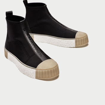 HIGH TOP SNEAKERS WITH TOE CAP Look+: 1 of 2