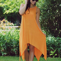 Happy Thoughts Dress - Tangerine