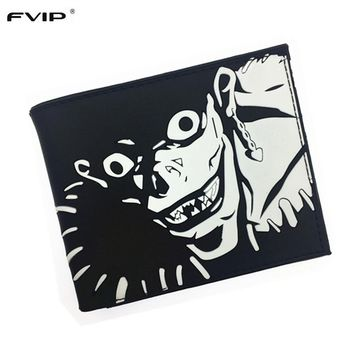 FVIP Anime Cartoon Wallet Death Note Thunder Cats Walking Dead Gears of War Silica Gel Wallet 2017 New Free Shipping