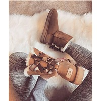 """""""UGG"""" Women Fashion Bow Wool Snow Boots"""