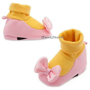 Licensed cool Daisy Duck Costume Dress Up Baby SHOES SLIPPERS Disney Store 0-18 Months NEW