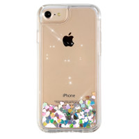 Holo Hearts Clear iPhone Case