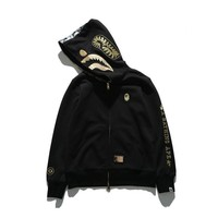 BAPE Fashion Winter Zip Up Hoodie Jacket Sweater