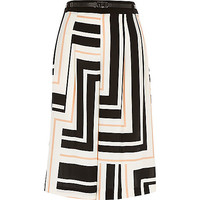 River Island Womens White stripe culottes