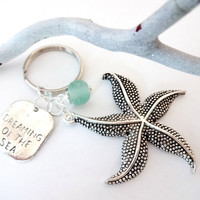 Sea Glass Keychain, Dreaming Of The Sea, Starfish Accessories