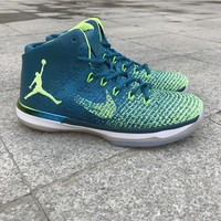 Air Jordan 31 Lake blue yellow Basketball Shoes 40-47