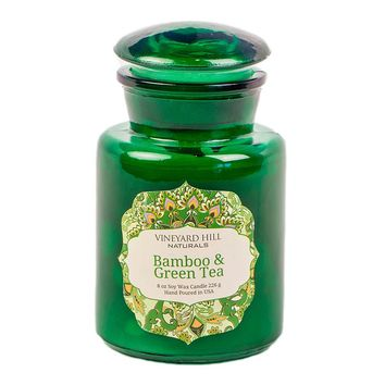 Vineyard Hill Naturals 8-oz. Bamboo & Green Tea Apothecary Jar Candle
