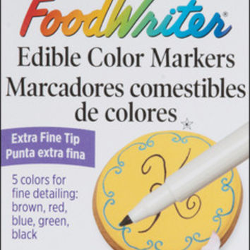 extra-fine foodwriter markers 5/pkg. baking supplies