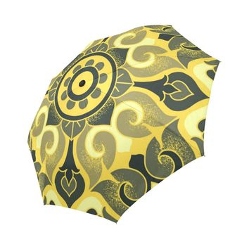 Floral Pattern Auto-Foldable Umbrella