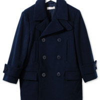 Stella McCartney Girls Navy Wool Peacoat