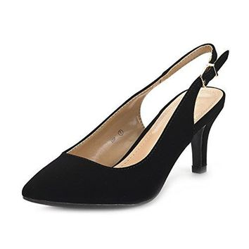 DREAM PAIRS Womens LOP Low Heel Pump Shoes
