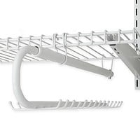 Rubbermaid® 30-Hook Sliding Belt and Tie Organizer in White