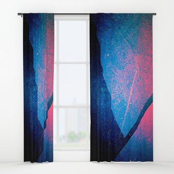 wrapping paper Window Curtains by Jessica Ivy