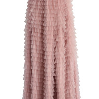 Swan Cloud Maxi Skirt in Rouge Pink  Pink