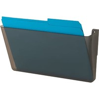 Recycled Plastic Cubicle Single File Pocket, Black | Staples