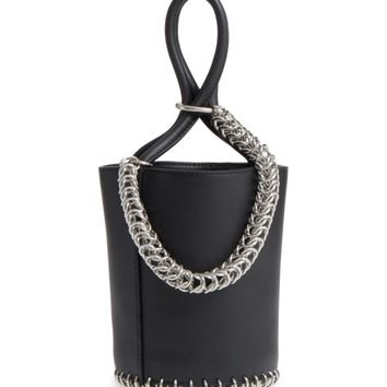 Alexander Wang Roxy Box Chain Leather Bucket Bag | Nordstrom