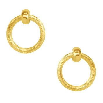 Karine Sultan Mia Doorknocker Gold-Plated Earrings