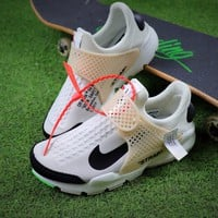 Best Online Sale OFF White x Nike La Nike Sock Dart OW White Black Sport Running Shoes Sneaker