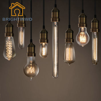 BRIGHTINWD E27 220V 40W Edison Light Bulb Vintage Retro Edison Lamp Incandescent Carbon Filament Glass Bulb Decorative Lighting