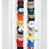 Caprack 18 Baseball Cap Hat Holder Rack Organizer Storage Door Closet Hanger NEW