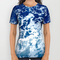 Sea Waves All Over Print Shirt by Jenna C.