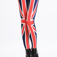 UK Union Jack Print Leggings