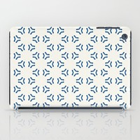 Acrylic Blue Pattern Circles iPad Case by Doucette Designs