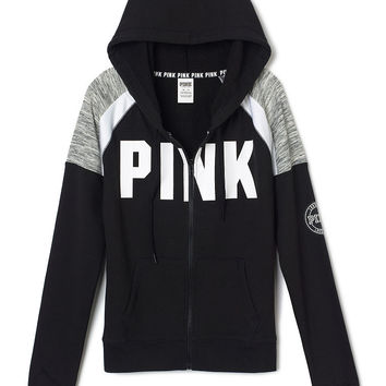 Perfect Full Zip Hoodie - PINK - from VS PINK | Quick Saves