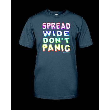 Spread Wide Don't Panic Men's T-Shirt by Melody Gardy