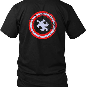 Funny Autism Awareness 2 Sided Black Mens T Shirt