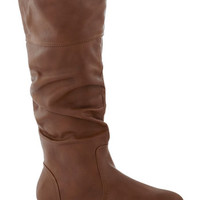 ModCloth Minimal Long Theater in the Round Boot in Brown