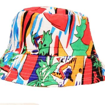 Mens Womens Multi Colour Bucket Hat Cotton Fishing Camping Camo Cap Boonie