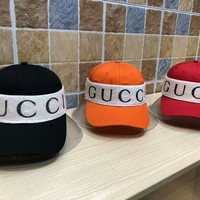 """Gucci"" Unisex Fashion Knit Letter Logo Headband Baseball Cap Flat Cap Couple Webbing Hat"