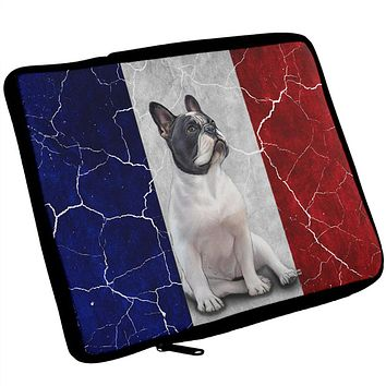 French Bulldog Live Forever Flag iPad Tablet Sleeve