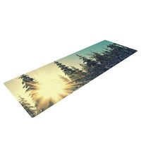 "Robin Dickinson ""Shine Bright"" Snowy Trees Yoga Mat"