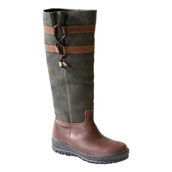 New OTBT Women's Weather Boots Move On in Green Brown