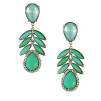 Fashion Resin Leaf Earrings Drop Pendant Earrings Chandelier Earrings Appealing Jewelry