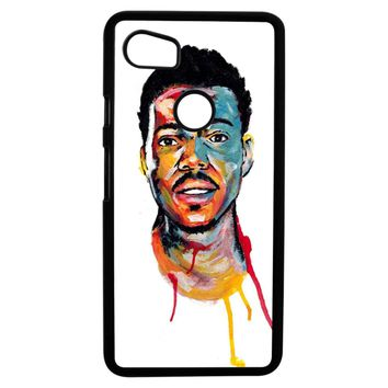 Acrylic Painting Of Chance The Rapper Google Pixel 2XL Case
