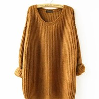 Chicloth Loose Round Neck Oversized Sweater