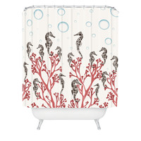 Belle13 Seahorse Forest Shower Curtain