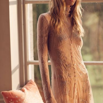 Free People Vested In You Embellished Slip