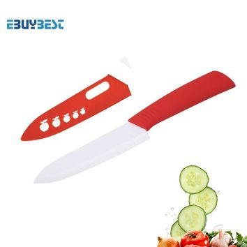 High Quality Kitchen Cooking Tools Ceramic Knife Single 3 4 5 6 inch White Blade colorful Handle Ceramic Paring kitchen Knives