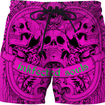HAPPY SOULS Pink Inkfected Edition Swim Shorts