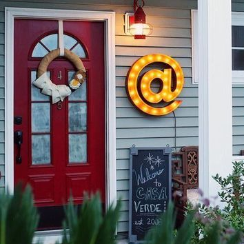 "24"" @ Vintage Marquee Lights Sign (Rustic)"